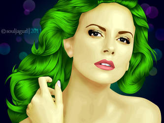 Green Hair by orlaxdessa