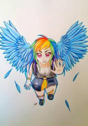 Rainbow Dash by Gwenou44-IceWolf