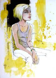 yellow girl by coffeeChihuahua