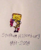 Spongebob sad - RIP Stephen Hillenburg by adelita03