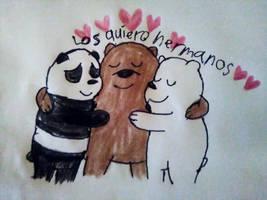 Bear Hug Between Brothers by adelita03