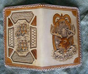 leather notebook by freakeaux