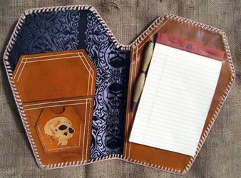 coffin notebook by freakeaux