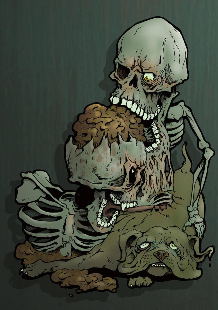 Skull dog by brewsterart