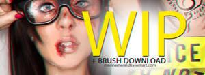 WIP + SKIN BRUSH DOWNLOAD. (Tutorial) by marinamaral