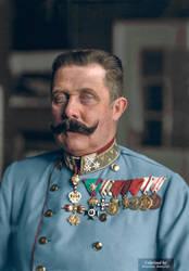 Colorization: Archduke Franz Ferdinand of Austria. by marinamaral
