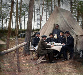 Dinner Party. Brandy Station, VA, April 1865. by marinamaral