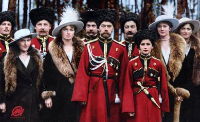Tsar Nicholas II of Russia and his children by marinamaral