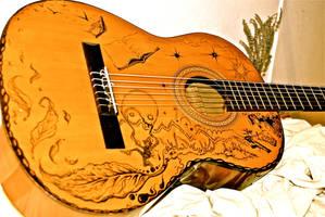 Parisian Guitar - angle 5 by J-Micah-Nelson