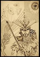 MasterPeace BrainChild sepia by J-Micah-Nelson