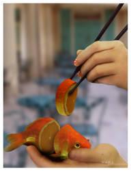 The Orange Fish by morestarinatthestars