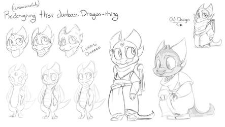 Redesigning that stupid babydragon that I hate now by Jacka-trope