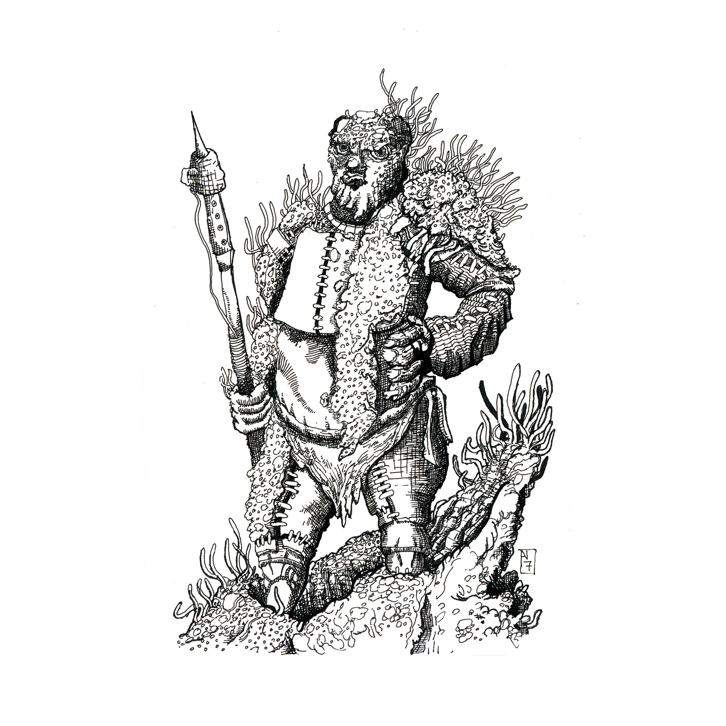 Wormbleed Fisherman (Patreon illustration) by oag-thomas