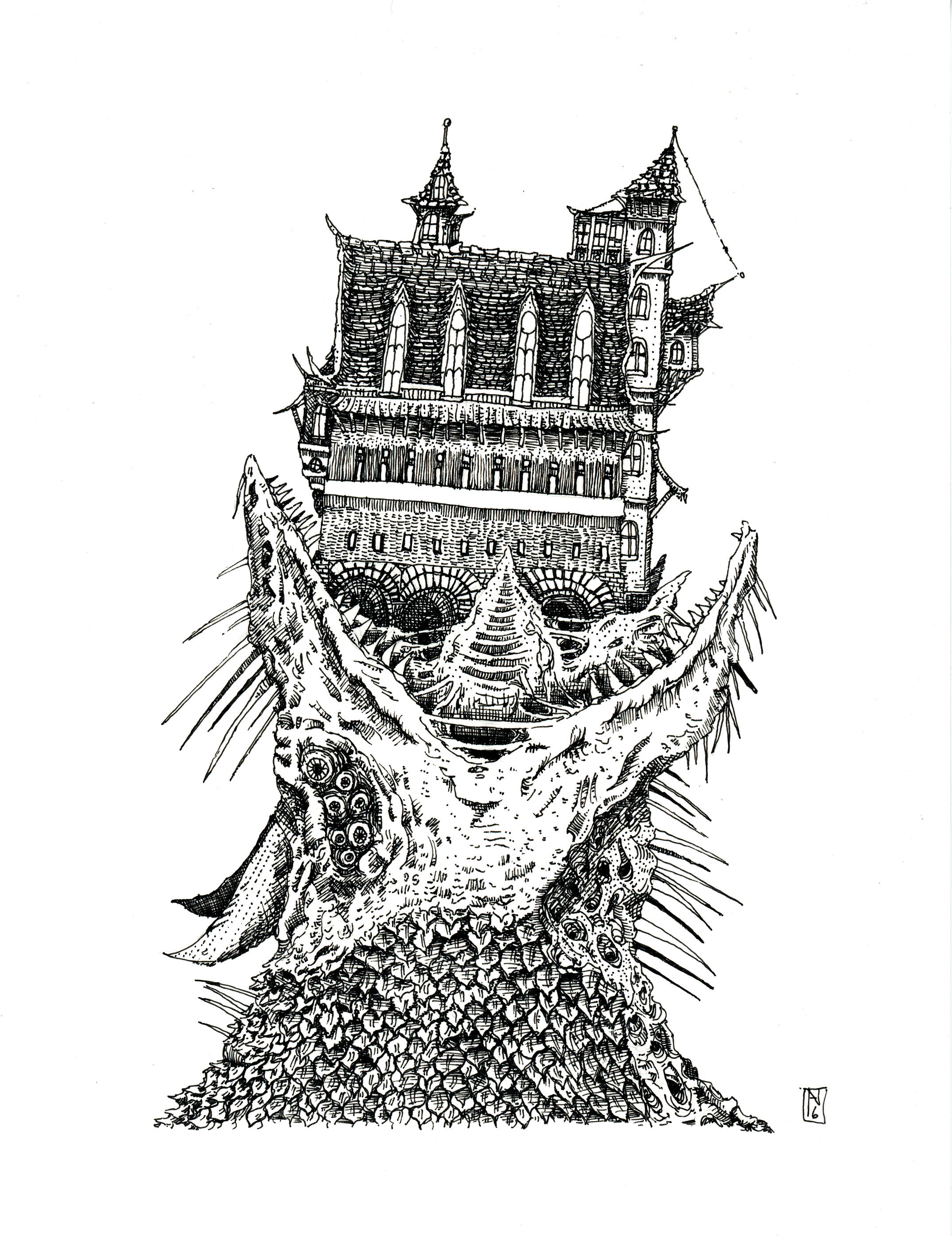 Castle Dragonpuke by oag-thomas