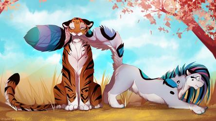 Tail nom by lycangel
