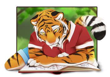 Reading by lycangel