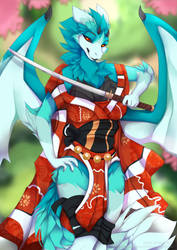 Samurai Lady by lycangel