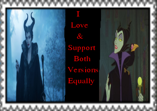 I Love Both Maleficent's Equally Stamp by Carriejokerbates