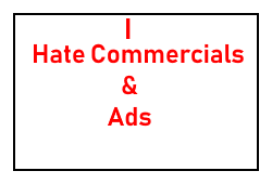 I hate commercials and ads stamp by Carriejokerbates