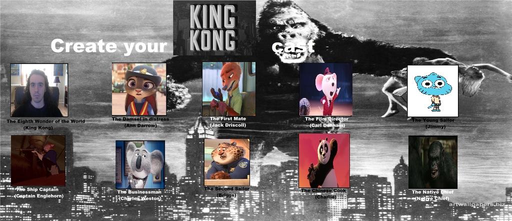 My King Kong Cast Meme By Carriejokerbates On Deviantart
