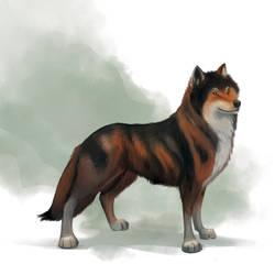 'Butters' The Dire Wolf by fideauxx