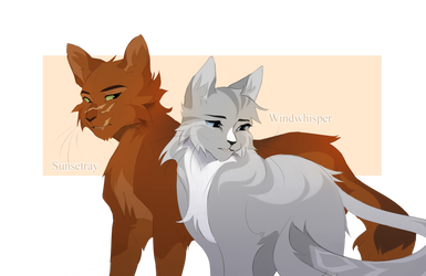 Sunsetray and Windwhisper (Warrior Cat OC's) by misayumeow