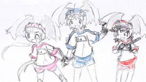 Alien Girls by ogamagirl