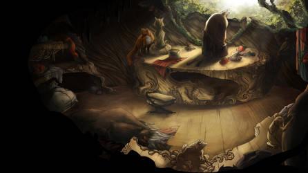 Hermit's study by elotta