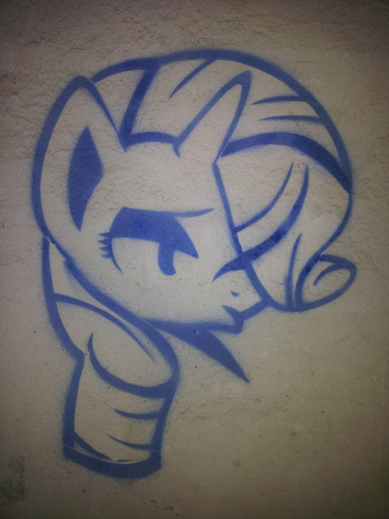 Rarity (graffiti) by Chrzanek97