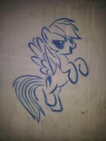 Rainbow Dash (graffiti) by Chrzanek97