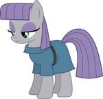 Maud Pie standing and thinking (Vector) by Chrzanek97