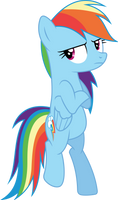 Rainbow Dash cool (Vector) by Chrzanek97