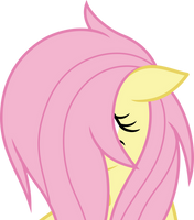 Fluttershy covered in mane (Vector) by Chrzanek97