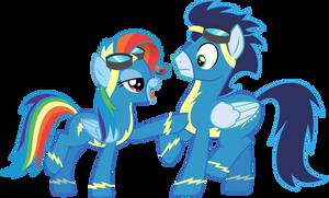Rainbow Dash and Soarin (Vector) by Chrzanek97