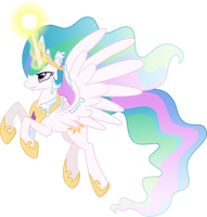 Princess Celestia against blizzard (Vector) by Chrzanek97