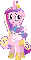 Princess Cadence and Flurry Heart (Vector) by Chrzanek97