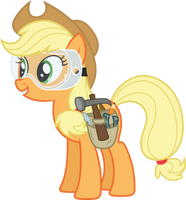 Applejack mechanic (Vector) by Chrzanek97