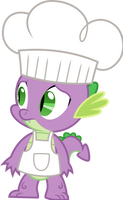 Spike as a chef (Vector) by Chrzanek97