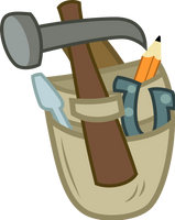 Applejack's tools (Vector) by Chrzanek97