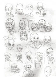 End Game Older Character Designs Sketchpage by SpiffytheCreative