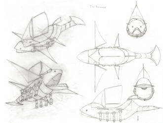 Bakunawa Sketches by SpiffytheCreative