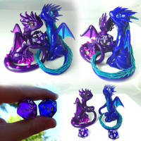 Dice Dragon Pair by LittleCLUUs