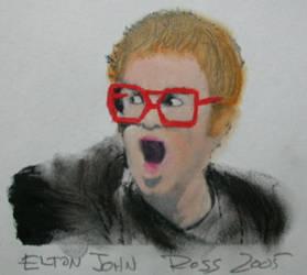 Sir Elton Hercules John CBE by rosswright