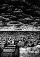 Nine Ravens. On the roof. by Layrensij