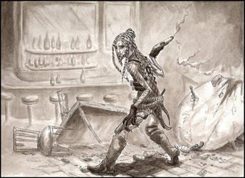 Kiern Mordeci the Gunslinger by JGroeling