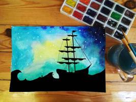 Space Ship by RitaMaskros