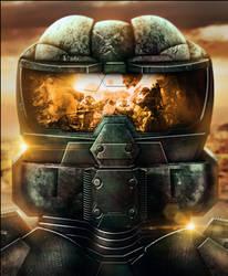 Halo Spartan Fanart by CryoGfx