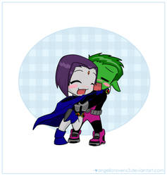 Beast Boy x Raven by angelicravenx3
