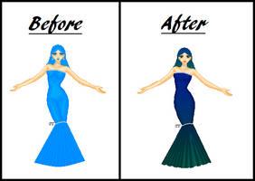 Calypso Before and After by PrincessVampireKitty