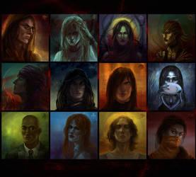 Vampire the Masquerade characters by DGrayfox